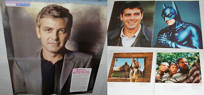 GEORGE CLOONEY 210x Clippings, Poster, Covers + Costume Card