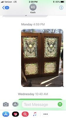Phil 27 Killer Set Antique Stainglass Double Door 68 X 76.5