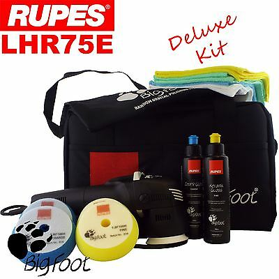 "Rupes Bigfoot LHR75E 3"" Deluxe Orbital Polishing Machine Polisher Buffer Kit"