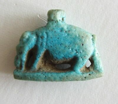 Ancient Egyptian blue faience amulet