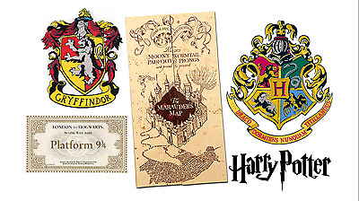 HARRY POTTER CAKE DECORATING TOPPERS SET. 5X TOPPERS gryffindor
