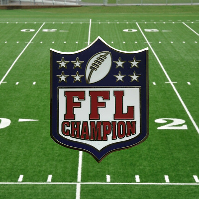 Fantasy Football League Championship Lapel Pin