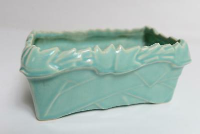 Early McCOY Pottery Small Planter Ivy Leaves, Green Glaze