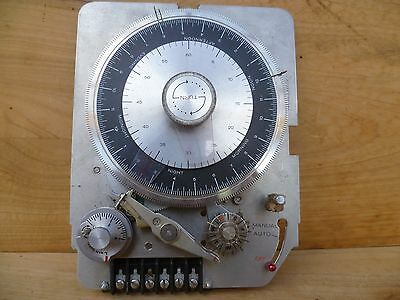 Vintage Old Large Size Unusual Clock, Timer Unit, Old Science Instrument (D284)