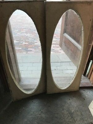 Sg 1685 2 Available Price Separate Antique Oval Window In Frame 15.75 X 37.5