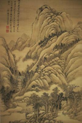 Mounted Painting of Recluse Life in Remote Mountains / Wang Hui (1632... Lot 102