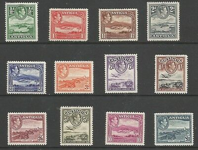 Antigua Sg98-109 The 1938-51 Gvi Set Of 12 Fine Mounted Mint Cat £130