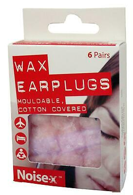 Noise-X Mouldable Cotton Covered Wax Ear Plugs**Free Delivery**