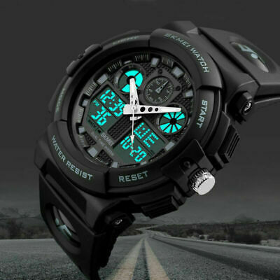 SKMEI Men's Military Digital Analog Sports Watch Alarm Waterproof Date Workout