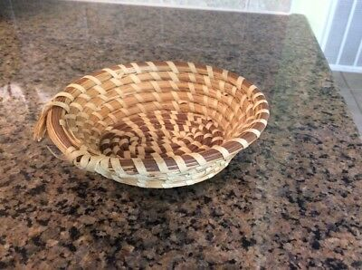 Charleston LowCountry Gullah Sweetgrass Sweet Grass Antique Small Basket