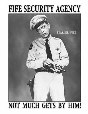 Andy Griffith Barney Fife Security Agency t-shirt