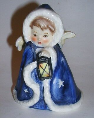 Vintage Goebel Figurine Angel W/ Lantern Cape 1958 Robson 412 Flight Into Egypt
