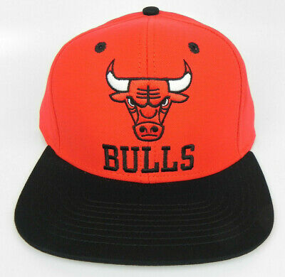9c3caa0a906 Chicago Bulls Nba Vintage Style Flat Bill Snapback Retro 2-Tone Cap Hat New!