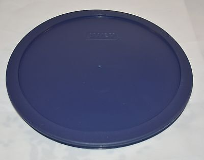 2 NEW Pyrex Blue Plastic Lid Cover for 10 Cup Sculptured Round Bowl 7403-PC