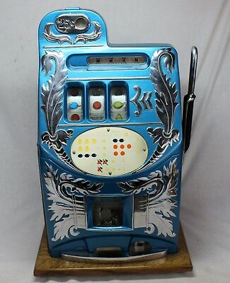 25¢ Mill's EXTRA BELL Slot Machine / Trade Stimulator 1940's WORKING CONDITION