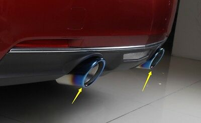 For 2017-18 Mazda CX-3 CX3 Stainless Rear Exhaust Muffler Tip End Pipe Trim 2PCS