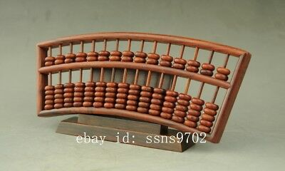 Chinese Old Dynasty Antique Wood Precious Hardwood Dalbergia Sector Abacus