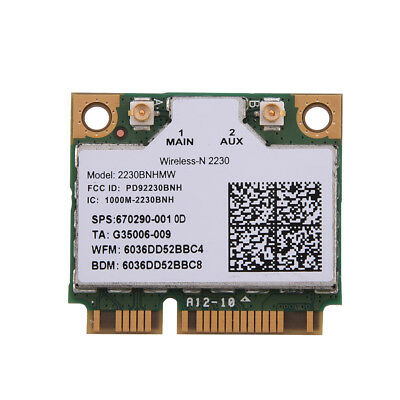 300M Wireless WiFi Bluetooth 4.0 Mini PCI-E Network Adapter WLAN Card For Intel
