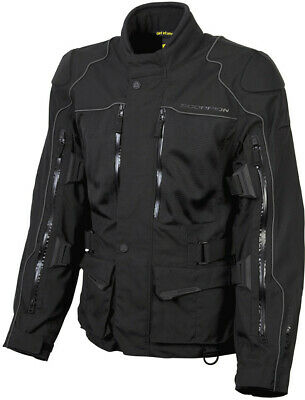 Scorpion Mens Black Yosemite Xdr All Weather Motorcycle Touring Jacket Small