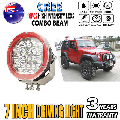 7Inch 1800W Cree LED Light Spot Flood Offroad Work Driving Light Replace HID SUV