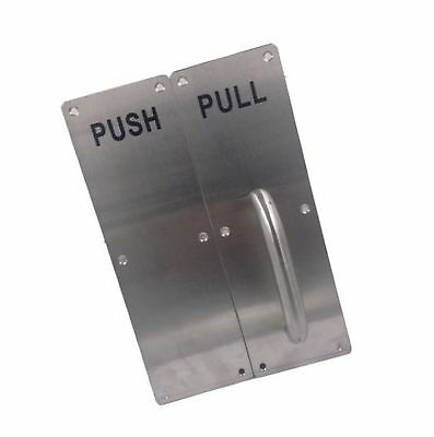 Sayhi Set of Stainess Steel Door Handle PULL and PUSH Plate