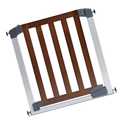 Munchkin Auto Close Designer Baby Gate Dark Wood/Silver
