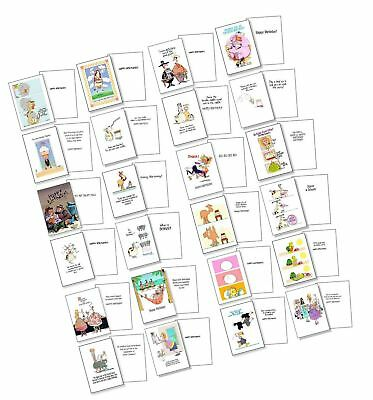 Funny Birthday Card Assorted Pack Of 24 Cards 25 Envelopes