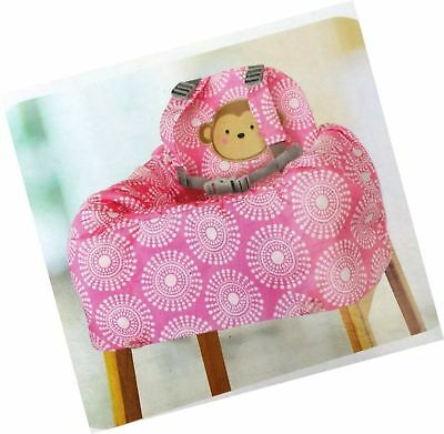 Child of Mine Shopping Cart and High Chair Cover Pink