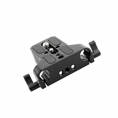 NICEYRIG Multipurpose Camera Base Plate with Rod Rail Clamp for DSLR Rig 15mm...