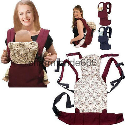 Adjustable New Warm Cotton Front & Back Baby Carrier Comfort Backpack Sling Wrap