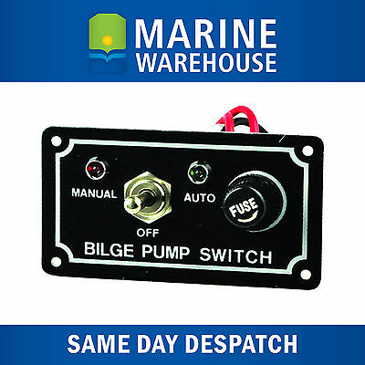 Bilge Pump Switch W/ LED Light Indicator - 3 Way Control Panel Marine 705107