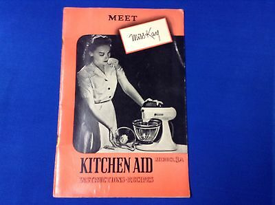 Vintage Kitchen Aid Model 3A Instruction Recipe Book