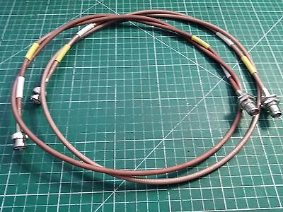 2 x Suhner 115cm RF Cables ,