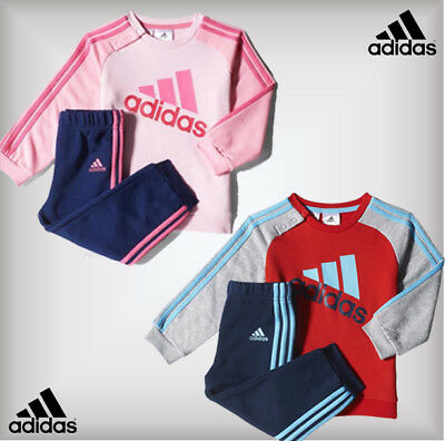 Adidas Pink/Red Tracksuit Baby Boys Girls Joggers 0-3-6-9-12-18-14 Months 2-3 Y
