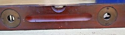 Antique Tool Stanley Sweetheart Adjustable Level Wood Brass Tool