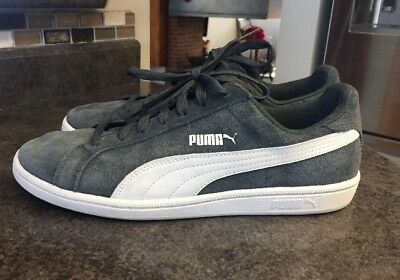 best loved 8eae1 d4df9 PUMA SMASH SUEDE Leather Classic Sneaker Size 8 Navy Grey/White 361896 02