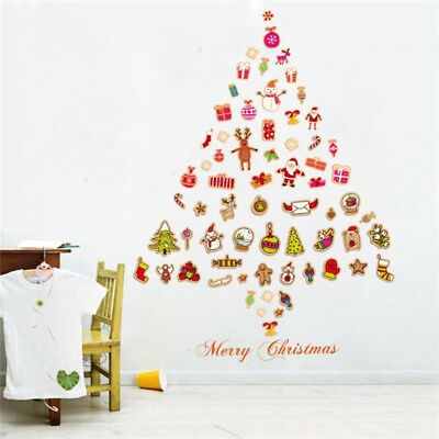 Christmas Party Home Decoration Multiple Element Merry Christmas Window Stickers