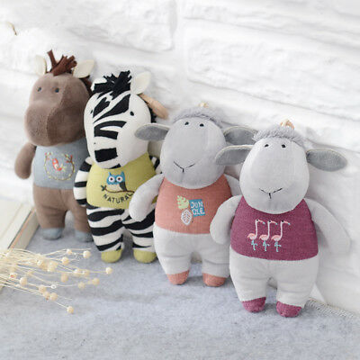 Metoo Horse Zebra Lamb Plush Doll Backpack Strap Accessories Key Chain Creative