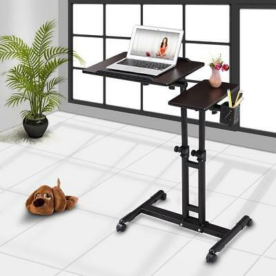 Adjustable Rolling Laptop Desk Table Computer Tracing Drawing Tattoo Work Cart