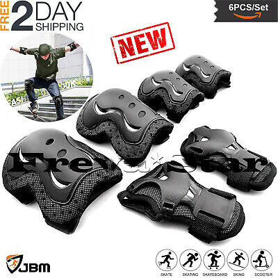 BMX Bike Knee Pads and Elbow Pads with Wrist Guards Protective Gear New Kids