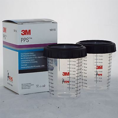 3M 16115 PPS Paint Preperation System Disposable Spray Paint Filter Mixing Pots