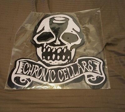 "Chronic Cellars Winery New Skull Metal Sign 13""x13"""
