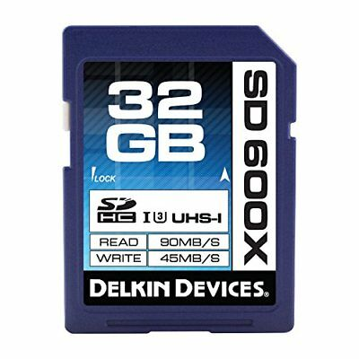 DDSD600-32GB Delkin 32GB UHS-I SDHC 32GB SDHC UHS memory card - memory cards