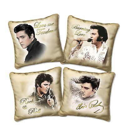 Licensed Elvis Presley Golden Moments pillow - Four Fabric Cushion Collection