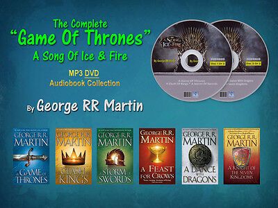 The Complete GAME OF THRONES Series By George RR Martin (6 MP3 Audiobooks)