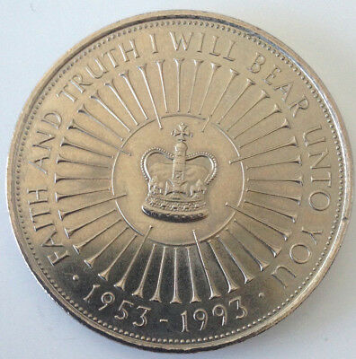 Queen's Coronation 40th Anniversary 5 Pound Coin Uncirculated