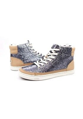 d8106b727ed UGG GRADIE GLITTER Gold Fashion High Top Sneakers Size 9 Us ...