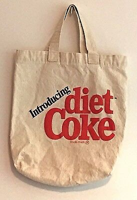 Introducing Diet Coke Tote Bag Canvas Two Handles Vintage Advertising