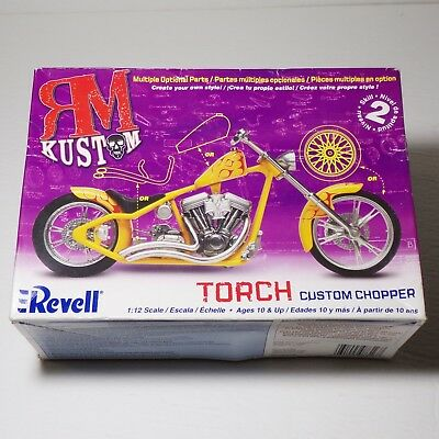 Revell Torch custom chopper 1:12 scale MOTORCYCLE model Barely started!