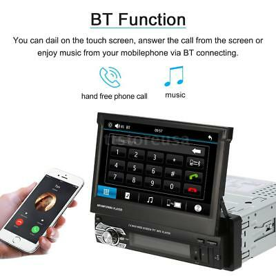 "7"" HD Touch Bluetooth Car Stereo 1DIN Audio MP3 MP5 Player GPS Radio FM USB H2W1"